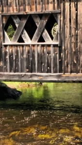 covered bridge close up